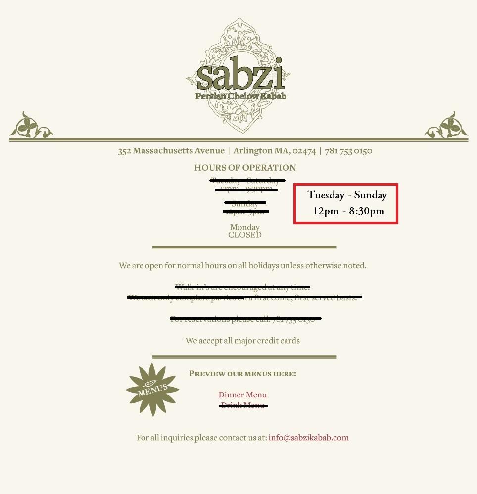 Sabzi - Persian Chelow Kabab